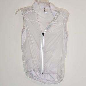 Fabletics windbreaker workout vest with mesh back
